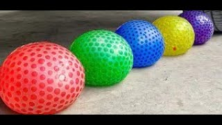 Crushing Crunchy & Soft Things! Experiment Car vs Orbeez in ball, cookies, candies.