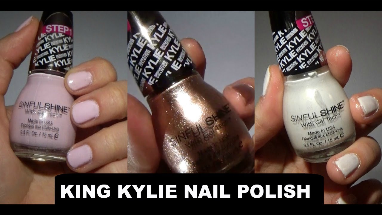 King Kylie Sinful SHINE | Kylie Jenner Nail Polish - YouTube