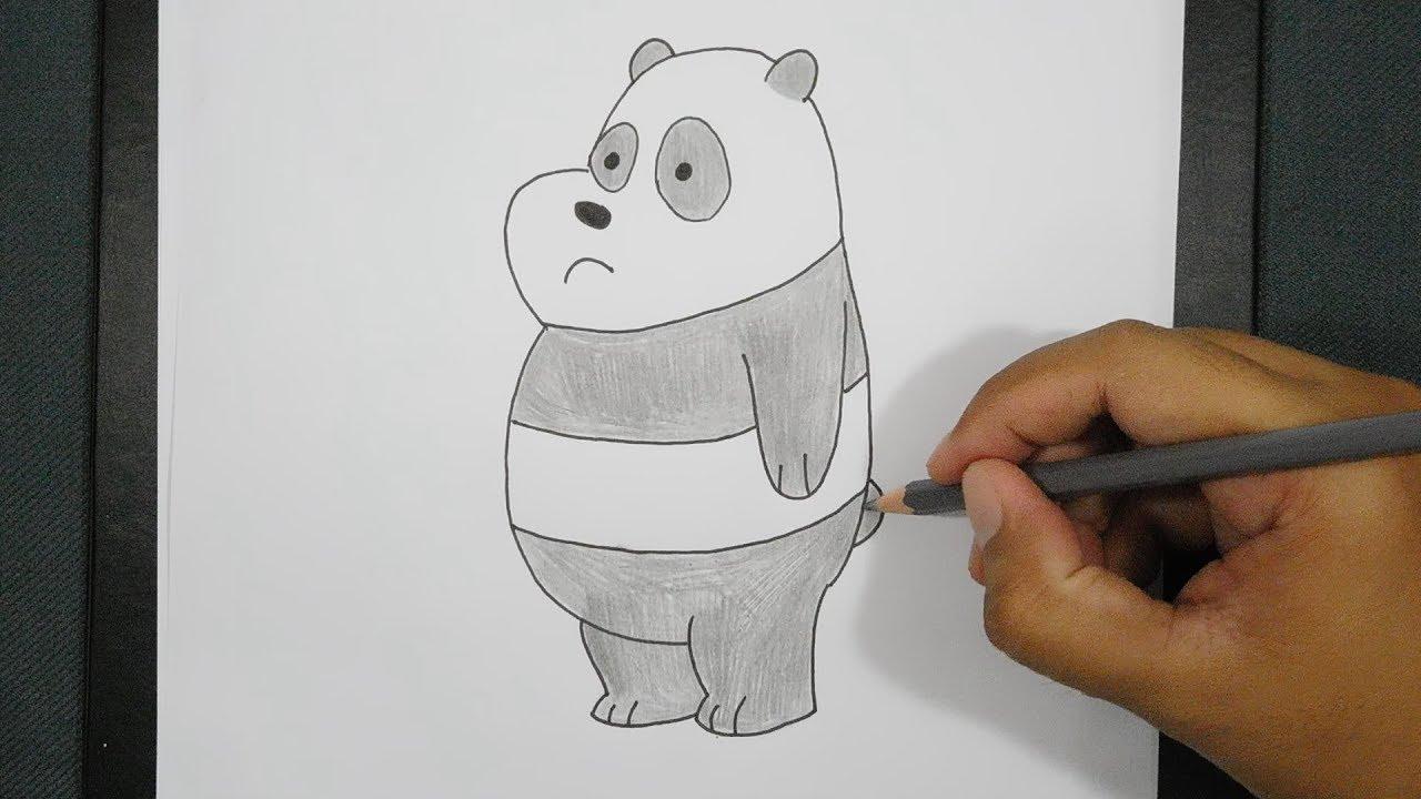 How To Draw We Bare Bears Panda Cara Menggambar Panda We Bare Bears