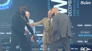 Wilder vs Fury: sparks fly at London press conference