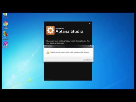 Corrigir erro CRC na instalação do Aptana Studio