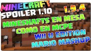 SPOILER MINECRAFT 1.10 | NOVEDADES EN ESPAÑOL | MESA MINESHAFT, 1.9.4 Y WII U EDITION MARIO MASHUP