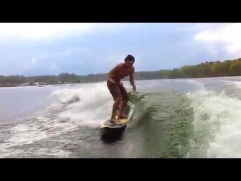 Marc Donato & Steve Collins Wakesurfing
