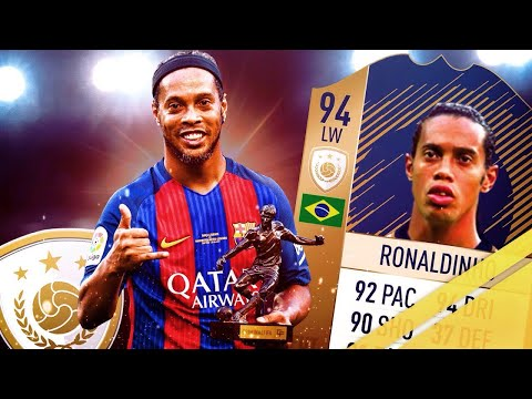FIFA 18  ICON RONALDINHO (91) PLAYER REVIEW