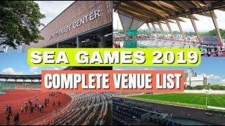 2019 Sea Games Venue Complete List Update #seagames2019 #2019seagames #wewinasone #gopilipinasgo