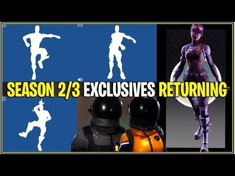 *NEW* Fortnite: SEASON 2/3 SKINS AND EMOTES RETURNING TO ITEM SHOP! *Leaked*