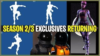Fortnite: SEASON 2/3 SKINS ET EMOTES RETURNING TO ITEM SHOP! «Fuite»