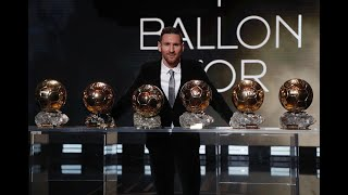 Leo Messi, six-time Ballon d