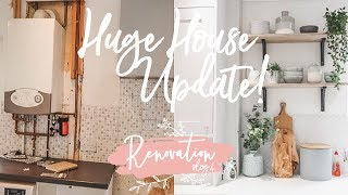 HUGE HOUSE UPDATE! DOWNSTAIRS BEFORE & NOW | RENOVATION VLOG 4