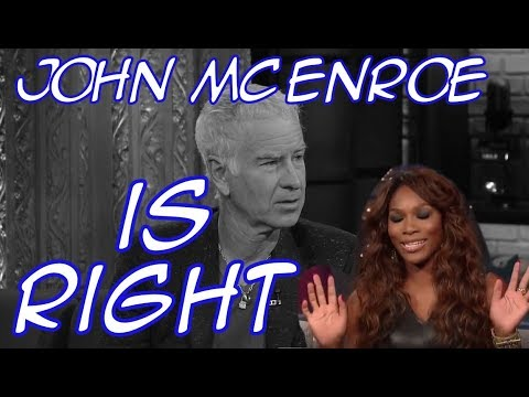 John McEnroe vs Serena Williams