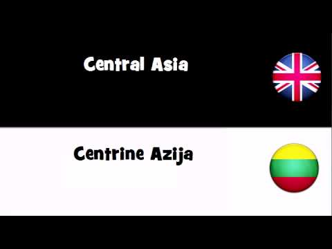 TRANSLATE IN 20 LANGUAGES = Central Asia