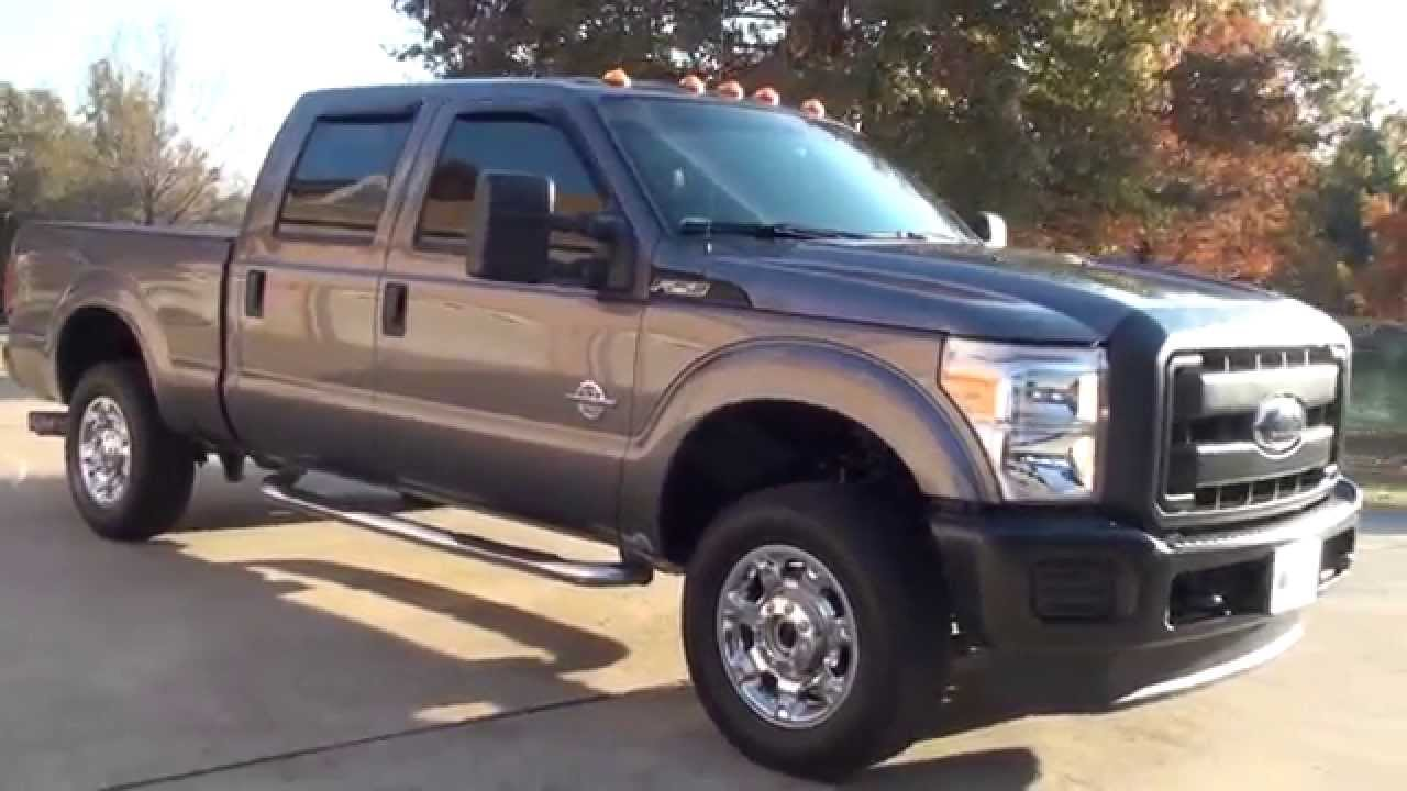 Hd video 2012 ford f250 xl crew cab 4x4 diesel for sale see www sunsetmotors com youtube