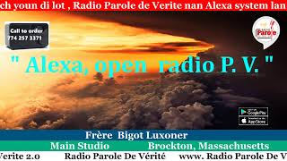 Emission Kadosh avec Frère  Bigot Luxoner - Radio Parole De Verite 4/25/2019