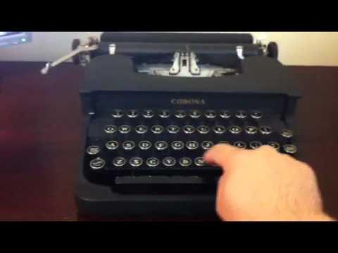 Corona 1940 typewriter