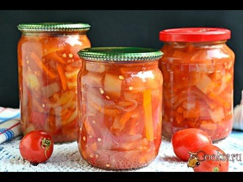 Лечо в мультиварке с томатной пастой