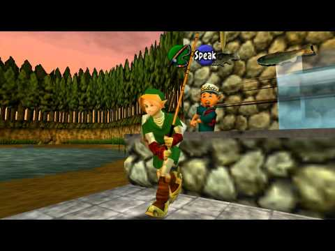 Legend Of Zelda Ocarina Of Time - Stealing The Fishing Rod