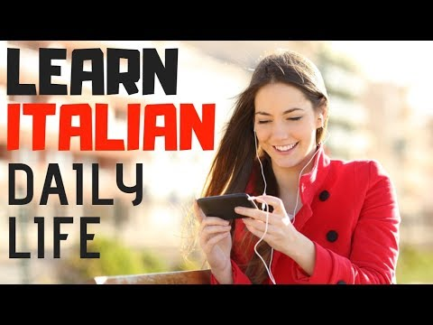 Learn Italian ||| Daily Life Conversation In Italian ||| Beginner