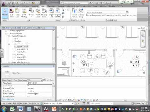 Commercial Project Revit Receptcales Mechanical Equipment Layout