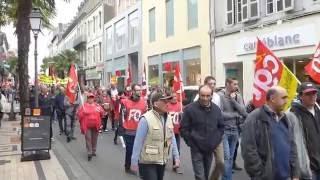 manifestation contre la loi travail dans les rues de tarbes 2 juin 2016