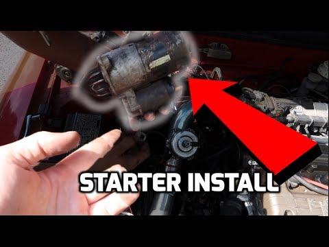 1G Eagle Talon DSM STARTER Install Restore RED - YouTube