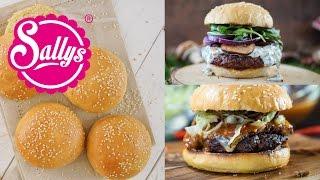 Geniale & einfache Burger Buns / Burger Brötchen