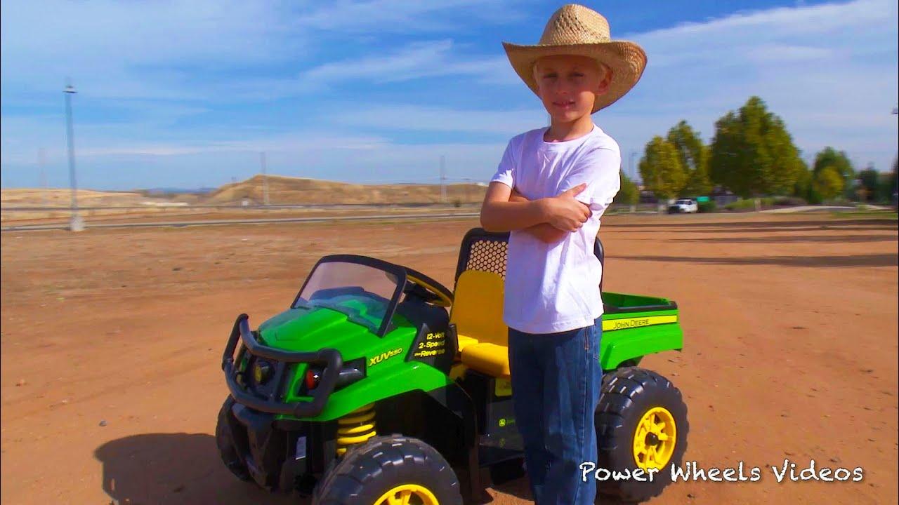 Power Wheels Ride On Tractor : Tractors for children john deere gator peg perego ride