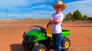 Tractors For Children - John Deere Gator - Peg Perego Ride On!