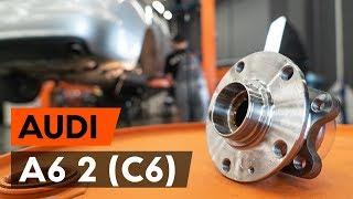 Kuinka vaihtaa takapyöränlaakerit AUDI A6 2 (C6) -merkkiseen autoon [AUTODOC -OHJEVIDEO]