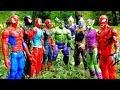 HULK Vs Thanos Vs Spiderman Vs Dinosaurus + Avengers & Justice League Fight!