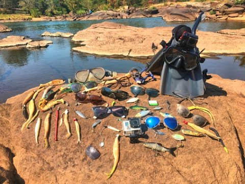 River Treasure with DallmyD! Gopros, Diamonds , Costas, And Fishing Tackle!