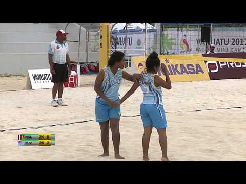 Pacific Mini Games Van2017 Beach Volleyball Women NCL vs Tuvalu
