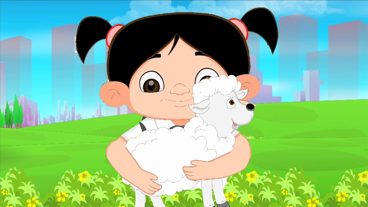 Mary Had A Little Lamb Hd Nursery Rhyme With Lyrics