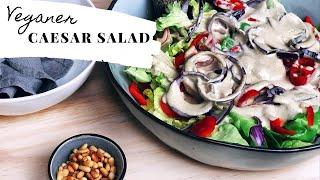 Veganer Caesar Salad / Gesund / Lecker /Schnelles Rezept