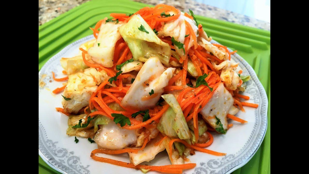 Рецепт корейского салата из капусты