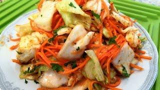 видео Салат из капусты с морковью