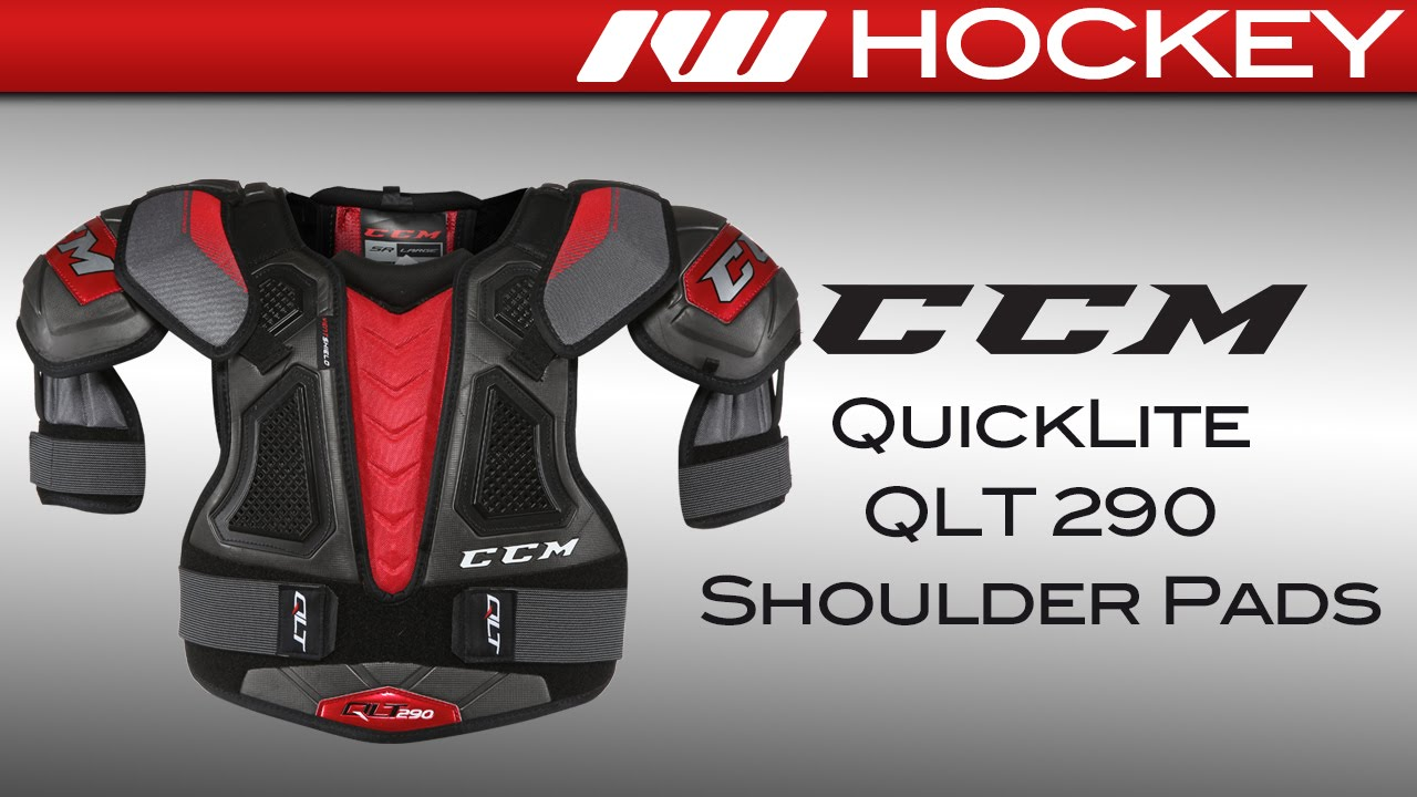 0f88909aace CCM QuickLite QLT 290 Shoulder Pads Review - YouTube