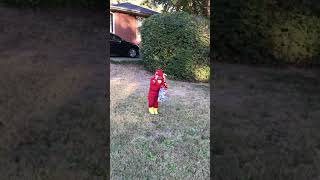 Nick trick or treating...i mean Flash
