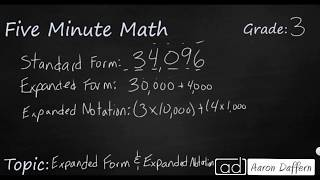 3rd Grade Math Expanded Form and Expanded Notation