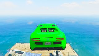 WORLDS HARDEST OCEAN JUMP! (GTA 5 Funny Moments)