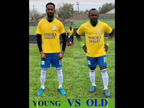 INVINCIBLE EAGLES FC HOUSTON TEXAS.  YOUNG Vs OLD MATCH
