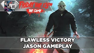 FLAWLESS VICTORY - Friday The 13th: The Game - Jason Gameplay thumbnail