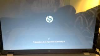 Mon PC HP Windows 10 ne démarre plus !!