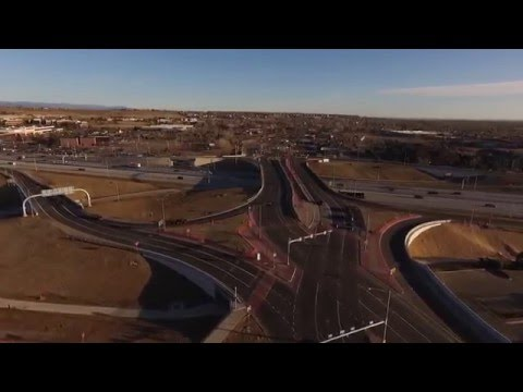 US 36 Diverging Diamond Interchange Aerial