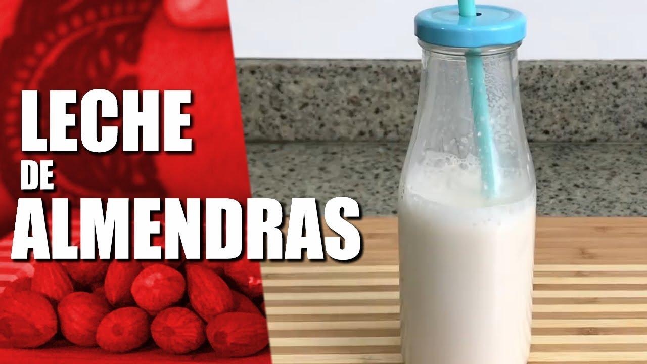 Prepara tu propia leche de almendras para adelgazar