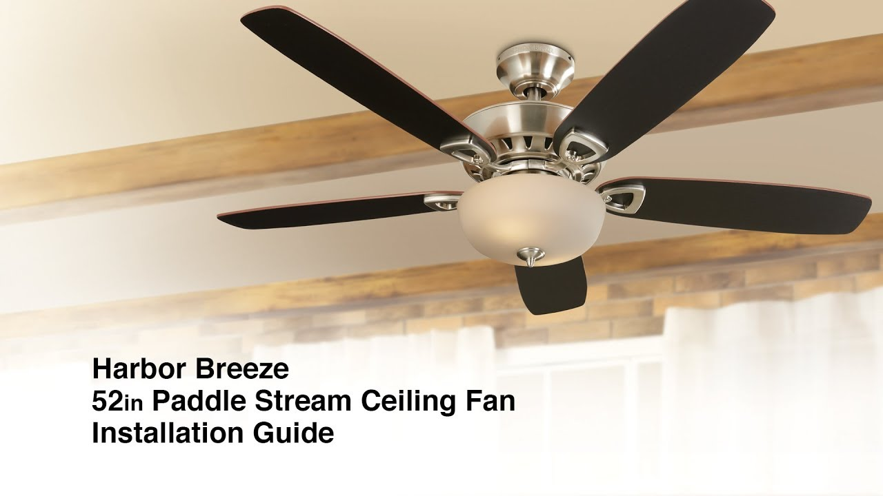 Harbor Breeze Ceiling Fans Installation Guide