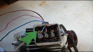 видео Как включить трехфазный двигатель в однофазную сеть 220 в. Использование электродвигателей.