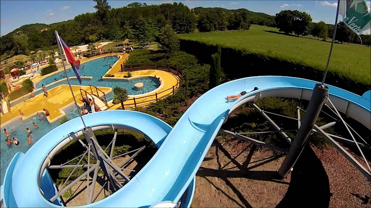 toboggan aquatique piscine ludina mirande youtube
