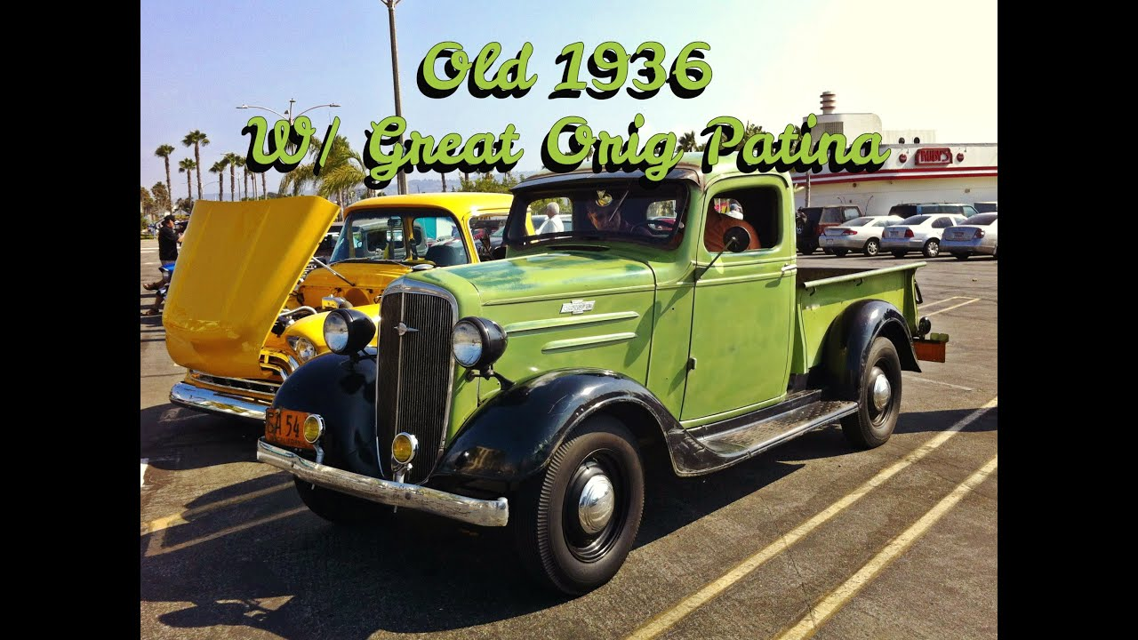 Classic Chevy 1936 Pickup Original w/Patina - YouTube