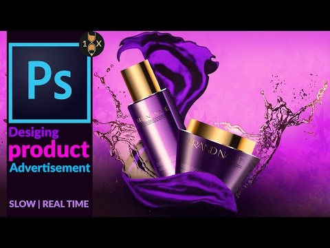 Creating a Cosmetic Product Advertisement  in Adobe Photoshop