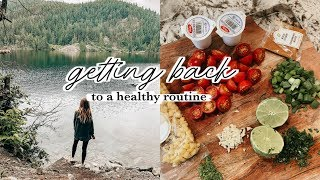 Getting Back Into A Healthy Routine   Gym, Meals, Cleaning, Errands Vlog